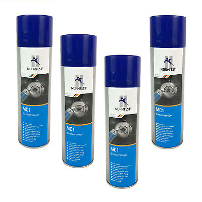 4 X NORMFEST 2897-333-500 0.5L MC1 BRAKE CLEANER 500ml OIL GREASE DUST REMOVER