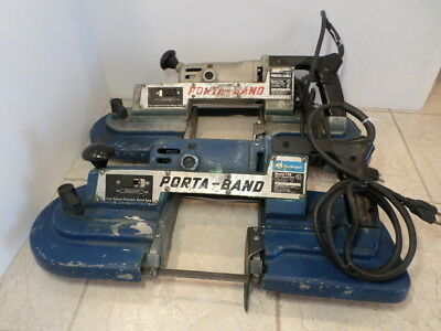 Rockwell Porter Cable 728 Extra Heavy Duty Variable Speed Porta Band Saw Lot BA8