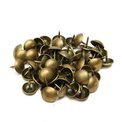 100 BRONZE CRAFTS FURNITURE UPHOLSTERY NAILS STUDS TACKS WOOD CHEST 11x11mm