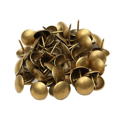 100 BRONZE CRAFTS FURNITURE UPHOLSTERY NAILS STUDS TACKS WOOD CHEST 10x10MM