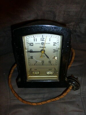 Vintage General Electric/Hotpoint Oven Timer & Clock-Art Deco 1930's L@@K