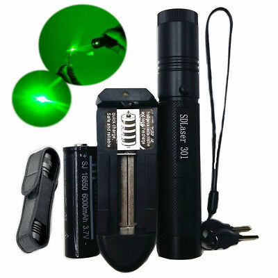 50Miles Professional Green 532NM Laser Pointer Lazer Pen Beam Burn+18650 Battery