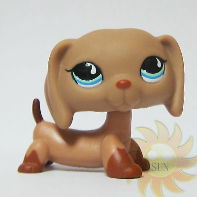 Littlest Pet Shop Animal LPS Loose Toy #1211 Dachshund Doxie Dog w/ Blue Eyes BB