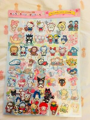 Hello Kitty Limited Edition Sanrio Characters Vintage Sticker Set Rare