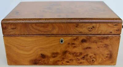 Agresti Florence Italy Super Briar Wood Jewelry Box