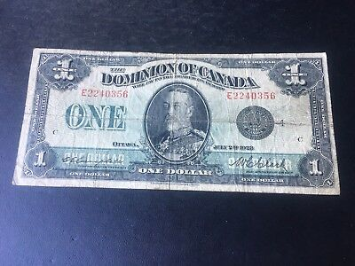 1923 Dominion of Canada $1 Large Note