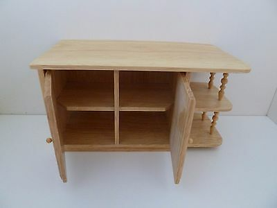 Dolls House Miniature 1:12th Scale Furniture Kitchen Oak Cabinet Opening Doors
