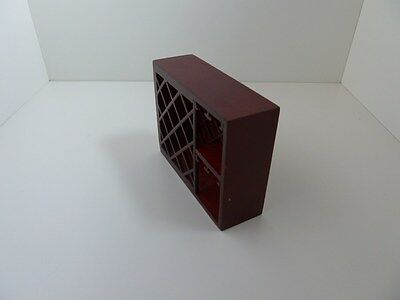 Dolls House Miniature 1:12th Scale Furniture Kitchen Wooden Mahogany Wine Rack