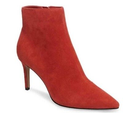 956920eb5c8 steve madden red suede boot bootie 8 new
