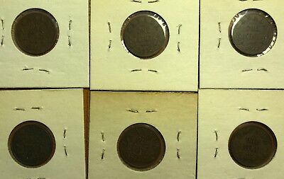 Lot of 6 Canada Small Cent - 3 Key Dates, 1922, 1925, 1931