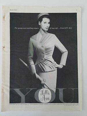 1960 Lilli Ann women's suit for young and exciting women ad