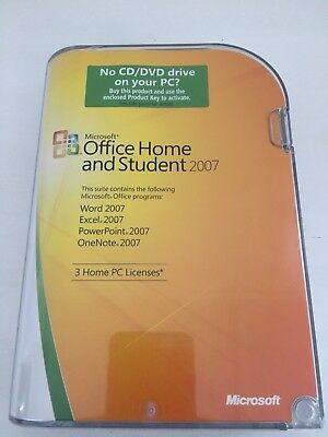 Microsoft Office Home & Student 2007 with Valid Product Key 3 x Home PC Licenses