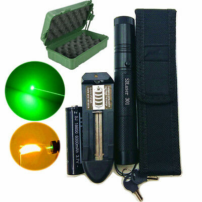 50 Miles Green 532NM Laser Pointers Lazer Pen Beam Burning+18650 Battery Charger