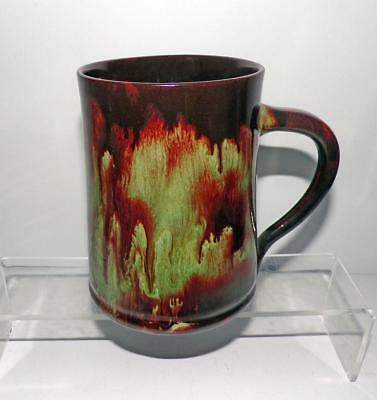 Ewenny Pottery Wales One Pint Tankard Glazed in Brown and Green Lava Style