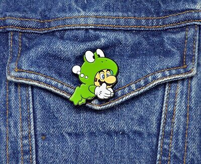 Super Mario Bros 3 Collector Pin - Frog Mario - Switch 3DS Wii U Snes NES  2