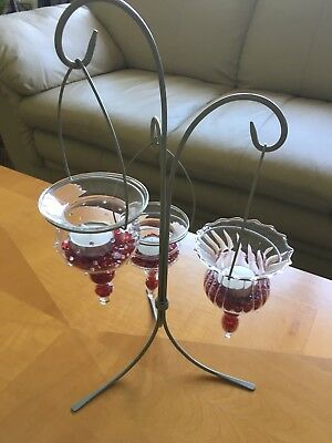 PartyLite Shimmer Lights Tealight Tree P8986 Candle Holder w/ Dazzle Beads