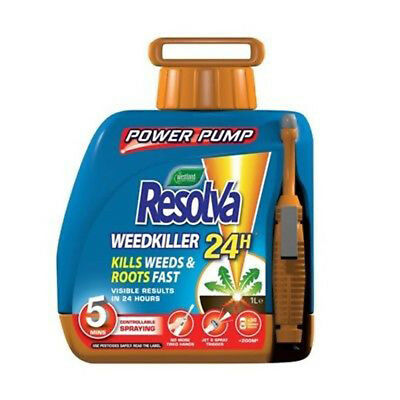Resolva 24hr Weedkiller with Ready to use Power Pump, 5 Litres