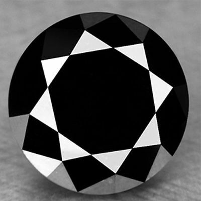 1.55 Ct    BLACK REAL MOISSANITE LOOSE.. .