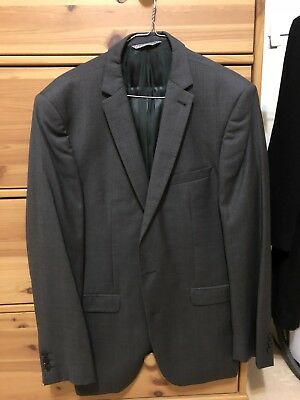 Simon Carter West End Charcoal Suit Blazer Size 42