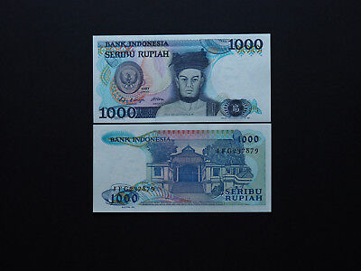 Indonesia Banknotes Brilliant 1000 Rupiah notes  -  Fantastic art and MINT UNC