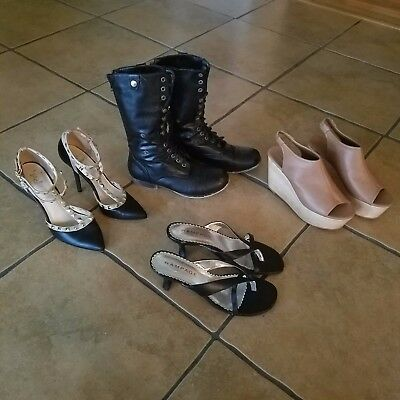 Women's sz. 7  ( Lot of 4 ) Heels/Boots/Sandals shoes -Forever 21,Rue 21,Rampage