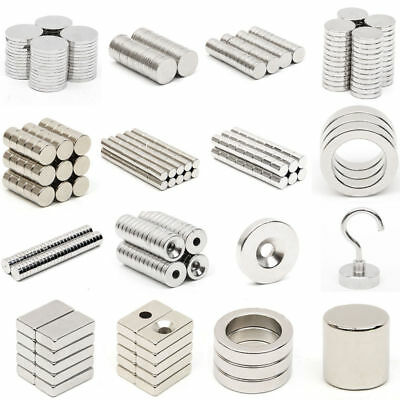 N52 Grade Wholesale Tiny Block Round Disc Ring Hole Rare Earth Neodymium Magnets