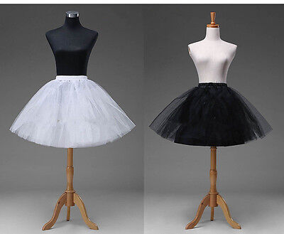White Short Petticoat Crinoline Underskirt Tutu Bridal Wedding Dress Skirt Slips