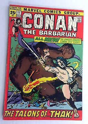 CONAN THE BARBARIAN #4 ~ 1971 Marvel Comics - Barry Windsor-Smith! Roy Thomas!