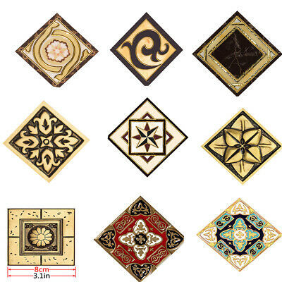 Vintage Floor Sticker Tile Decal Bathroom Shower Tile Wall Stickers Decals 10Pcs