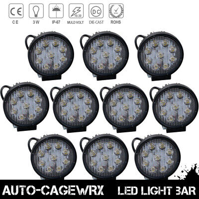 10X 27W 12V LED Work Light Flood Light OffRoad ATV SUV Boat Jeep Truck 4Inch