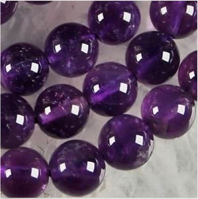 6-8-10mm Russican Amethyst Gemstones Round Loose Beads 15'aa