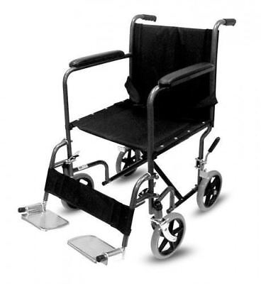 Lightweight Transit Folding Wheelchair Portable Travel Puncture Proof Carry