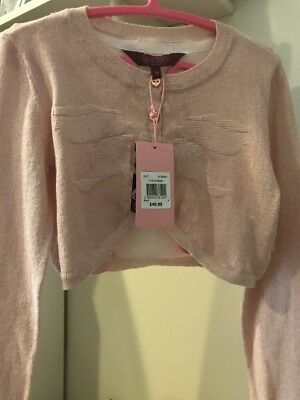 NWT Baker by Ted Baker Girls Blush Cardigan - Size 8