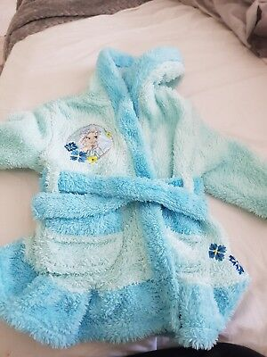 Disney frozen dressing gown aged 2 blue