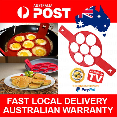 Fantastic Pancake Maker Egg Cooker Quiche Flipping Frying Pan Cook BBQ FREE POST