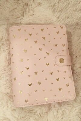 kikki.K And Then I Met You Medium Planner Valentine pink heart Used for a week