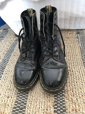Doc Martens Boots Patent Black 8 Hole Airwair Women's Size UK4/US5/EU37