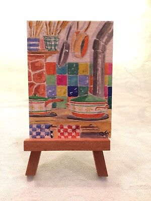 ACEO Orig Watercolor by James Grey Colored Tile
