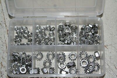1000 Pieces Your Choice  8-32 Thru 1/4-20  K-Lock Nuts Steel Zinc Plated