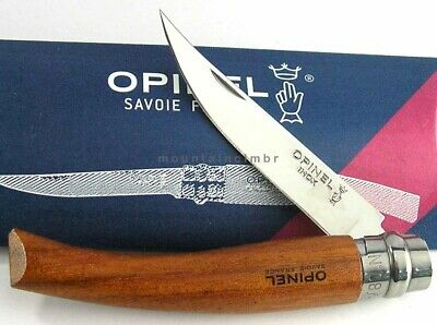 Opinel Slim Bubinga Wood Handle No 8 Sandvik Steel Locking Ring Knife France