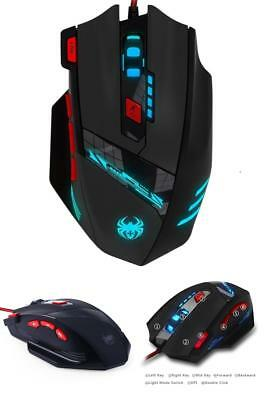 Zelotes 9200 DPI Gamer Maus,8 Tasten,13 LED Licht Modi Gaming Maus,USB Wired Gam