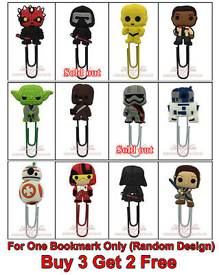 BUY 3 GET 2 FREE Star Wars 60mm Plastic Paper Clip Bookmark Gift for Boy Her Him