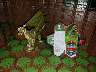 Heroscape Charos Orms Return Dragon With damaged Card - D&D RPG Warhammer minis