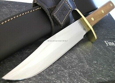 Linder Classic Bowie Hunter FullTang Fixed Blade Knife Wood Hdl Solingen Germany