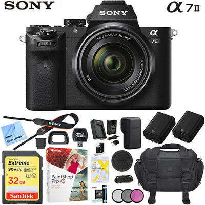 Sony a7 II Full-Frame Alpha Mirrorless Digital Camera w/ 28-70mm Lens Pro Bundle