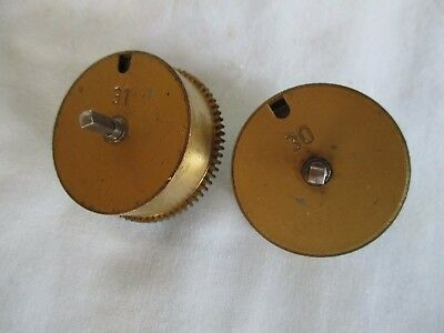 Hermle No 30 And 31 Pair Of Clock Mainspring Barrels For Spares