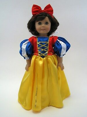 18 Inch Doll Dress Snow White Inspired Costume Fits American Girl AG Doll
