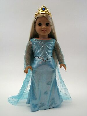 18 Inch Doll Dress Elsa Ice Princess Inspired Costume Fits American Girl AG Doll