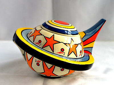 Rare Lorna Bailey Odyssey Teapot mint signed limited edition Never Displayed