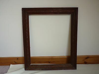 ANTIQUE VINTAGE OLD large wooden Frame for painting Family wedding ...